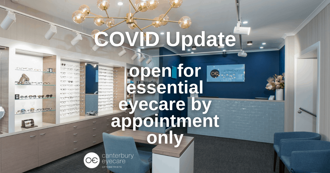 Open for essential eyecare only in lockdown