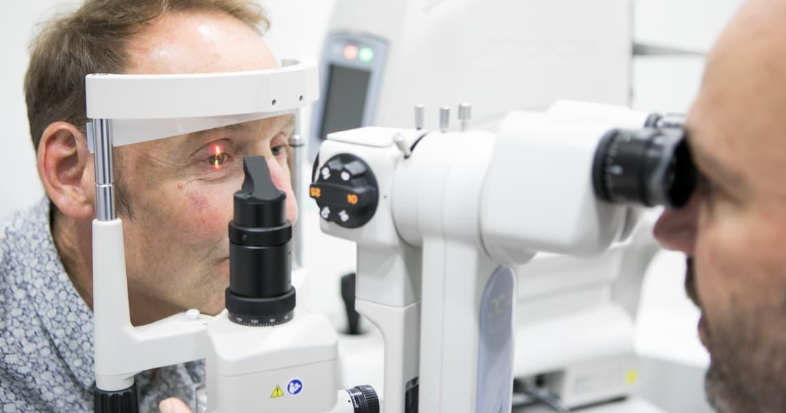 Anterior eye examination