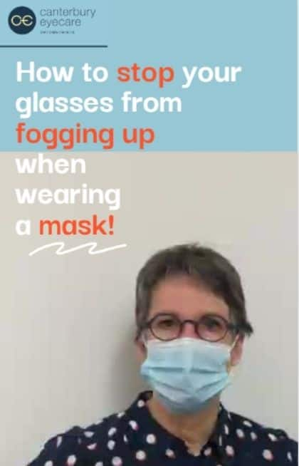 How to stop your glasses from fogging up when wearing a mask!