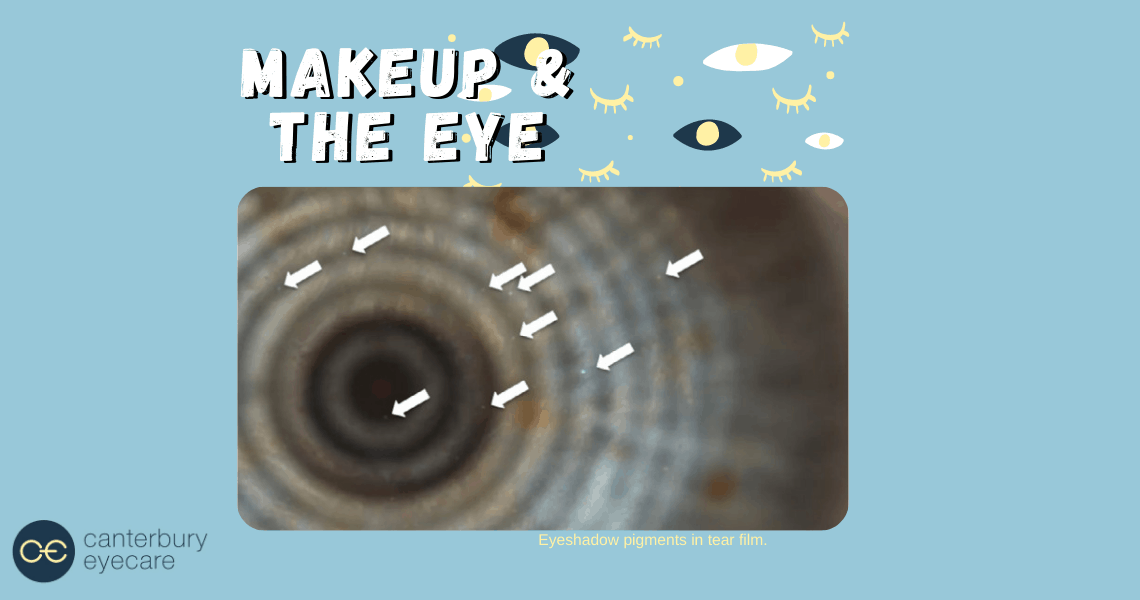 make-up in eye