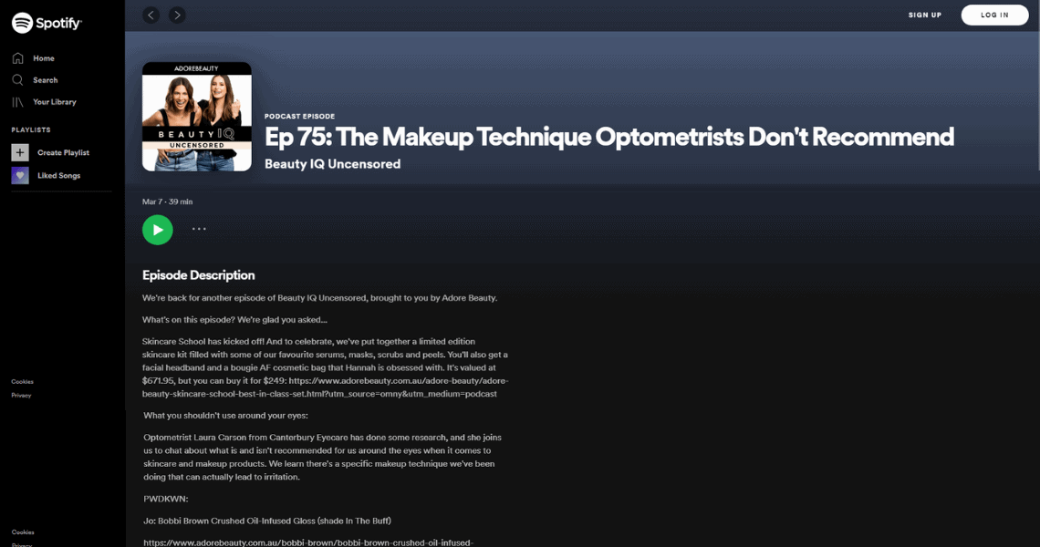 podcast eyecare